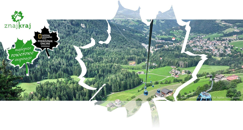 Widok z gondoli na Alpe di Siusi