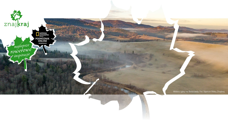 Widok z góry na Bieszczady