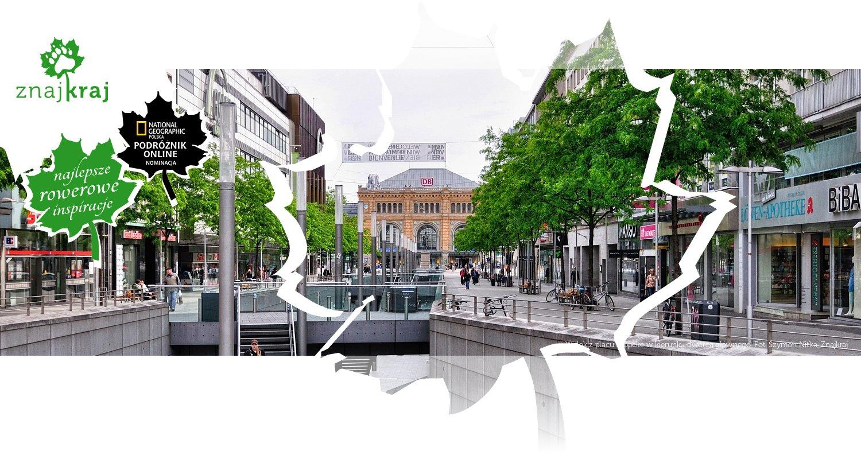 Widok z placu Kröpcke w kierunku dworca głównego