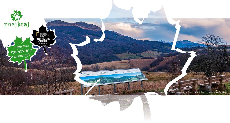 Widok z Przełęczy Wyżnej w Bieszczadach