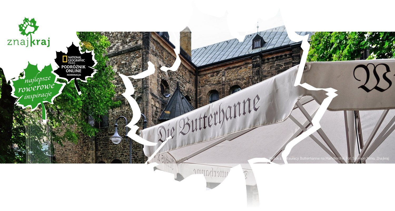 Widok z restauracji Butterhanne na Marktkirche