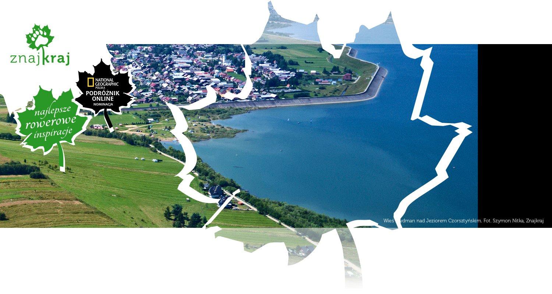 Wieś Frydman nad Jeziorem Czorsztyńskim