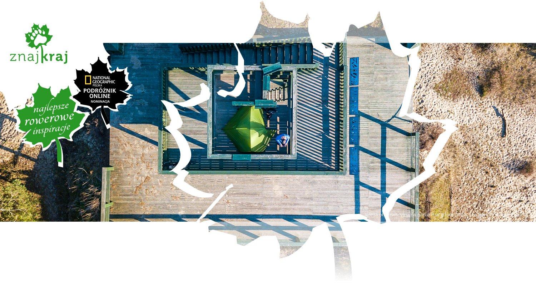 Wieża obserwacyjna na górze Pirat z lotu ptaka