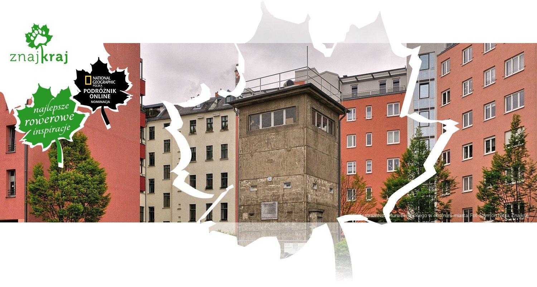 Wieża strażnicza Muru Berlińskiego w centrum miasta