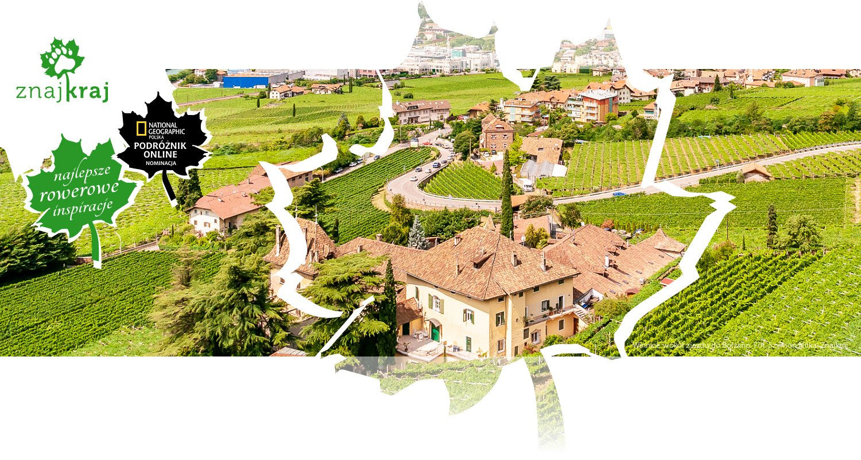 Winnice wokół zjazdu do Bolzano