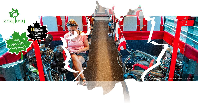 Wnętrze pociągu Cityjet w Linzu w Austrii