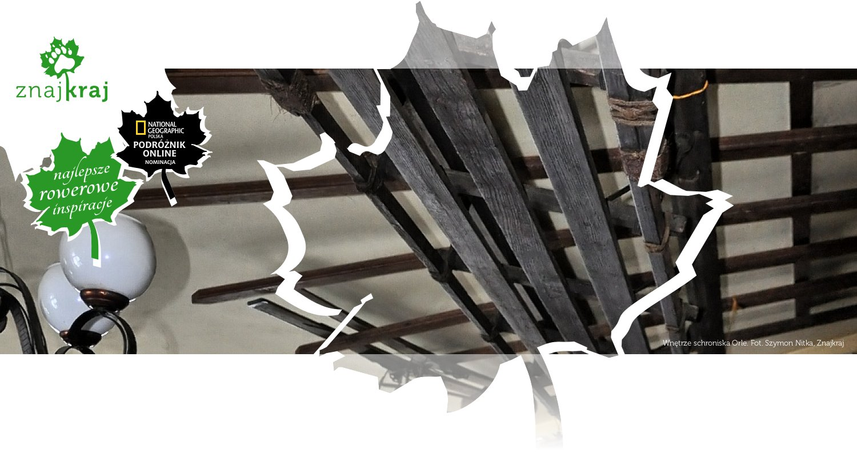Wnętrze schroniska Orle