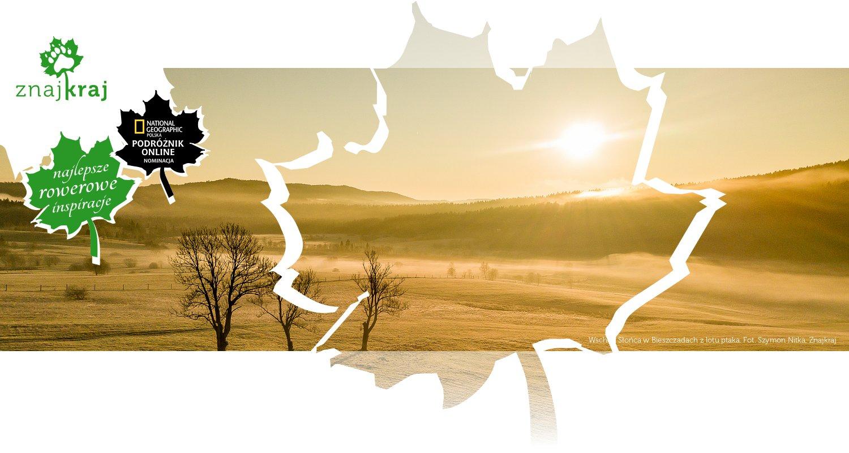 Wschód Słońca w Bieszczadach z lotu ptaka