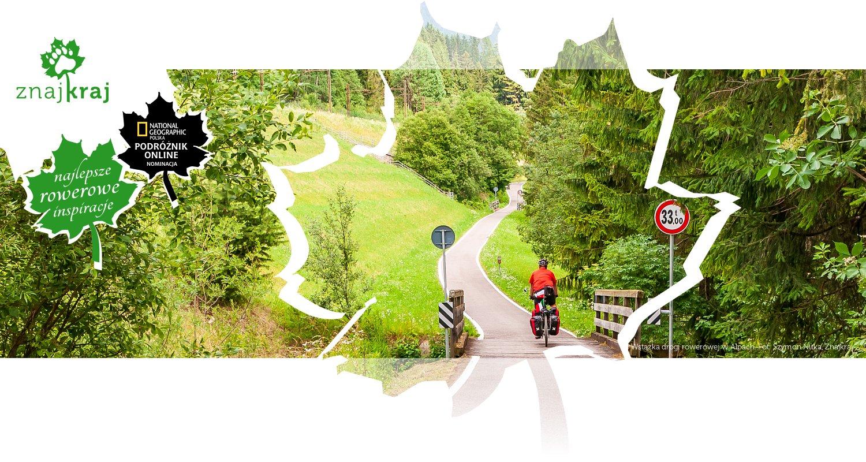 Wstążka drogi rowerowej w Alpach