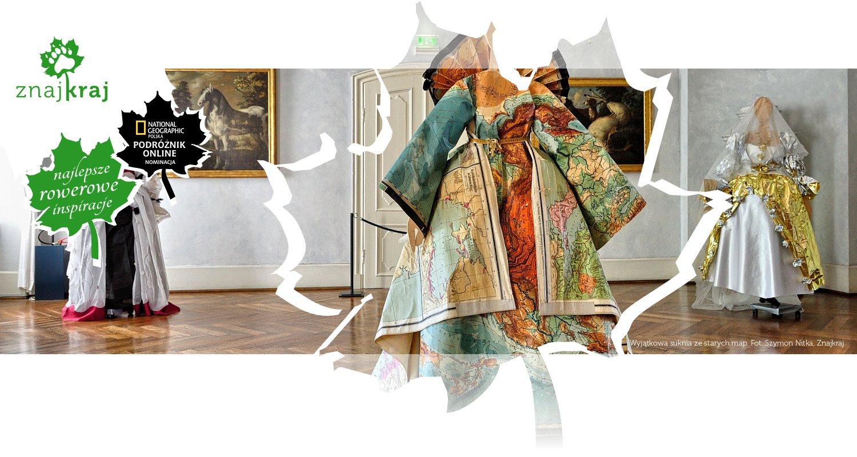 Wyjątkowa suknia ze starych map