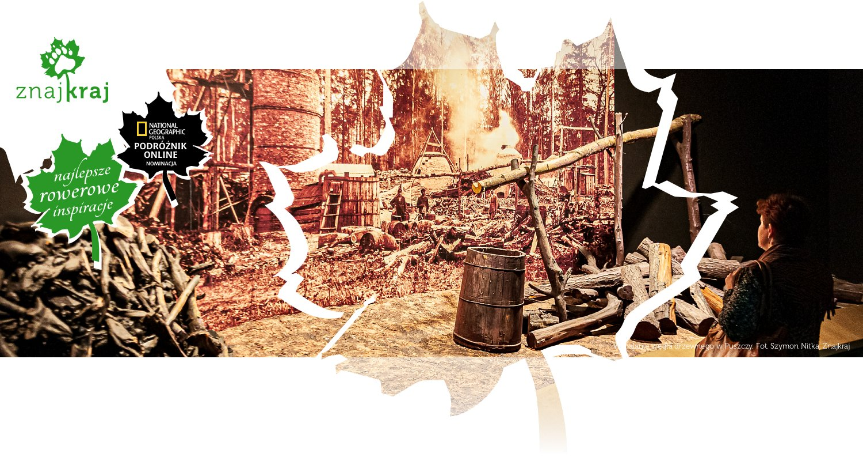 Wypalanie węgla drzewnego w Puszczy