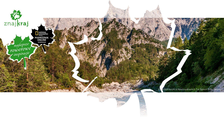 Wyschnięte koryto w Alpach austriackich