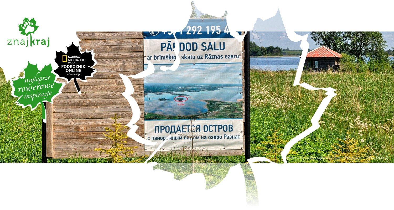Wyspa na sprzedaż na jeziorze Raźno