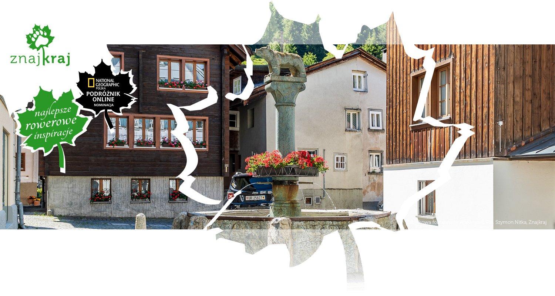 Zabytkowa fontanna w Andermatt