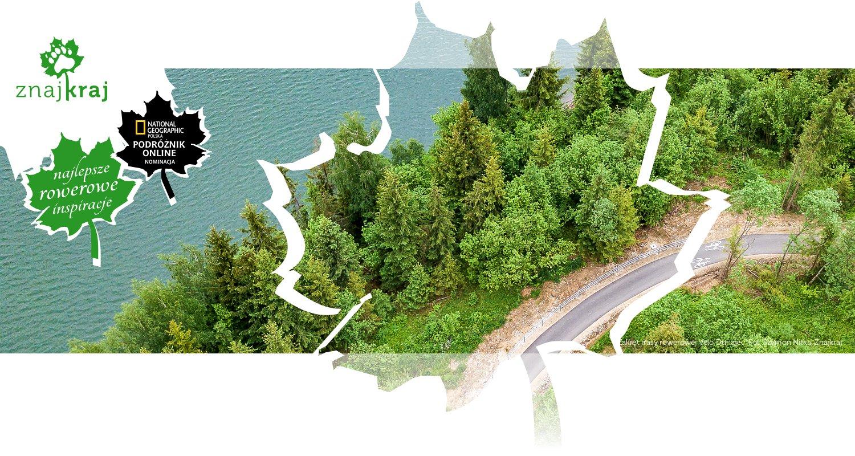 Zakręt trasy rowerowej Velo Dunajec