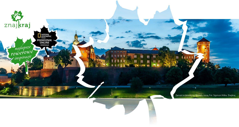 Zamek królewski na Wawelu nocą