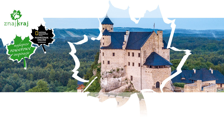 Zamek w Bobolicach z lotu ptaka
