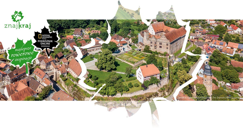Zamek w Cadolzburgu z lotu ptaka