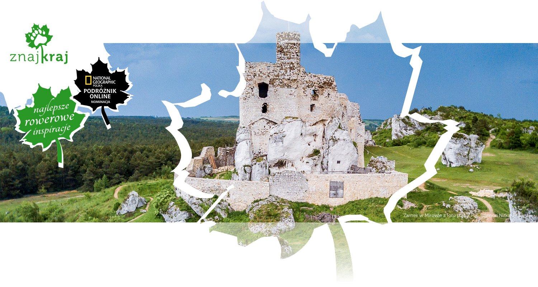 Zamek w Mirowie z lotu ptaka