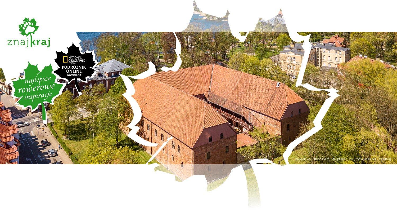 Zamek w Ostródzie z lotu ptaka