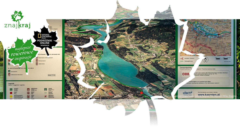 Zdjęcie satelitarne zamiast mapy rowerowej w Karyntii