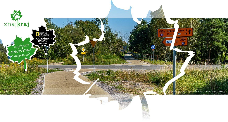 Złamanie drogi rowerowej przed przejazdem