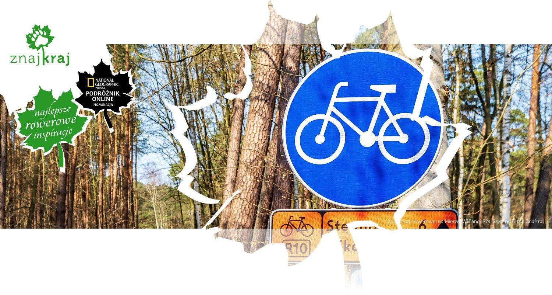 Znak drogi rowerowej na Mierzei Wiślanej