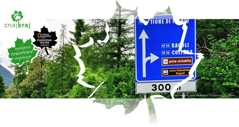 Znak wskazujący drogę dla rowerów