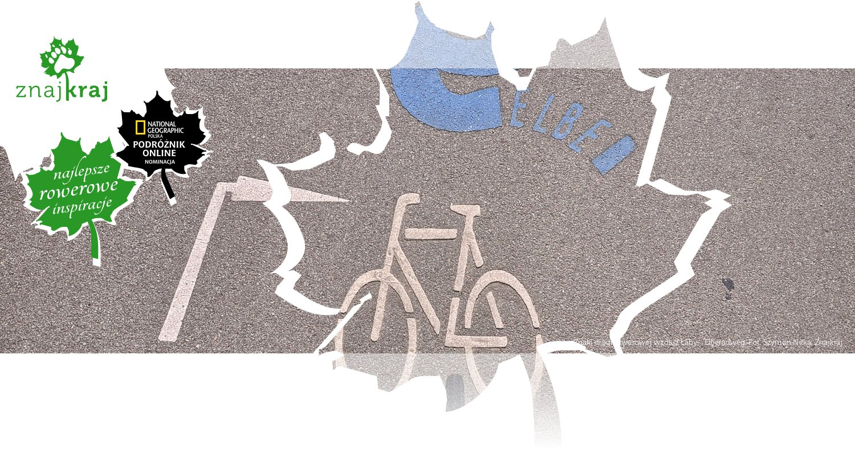 Znaki drogi rowerowej wzdluż Łaby - Elberadweg