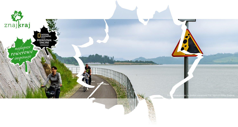 Znaki ostrzegawcze na drodze rowerowej