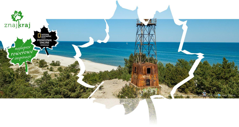 Zrujnowana latarnia morska na Górze Szwedów