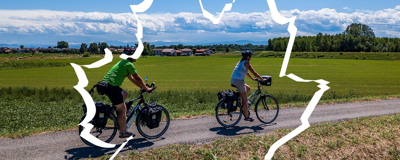 Na drodze rowerowej nad Padem