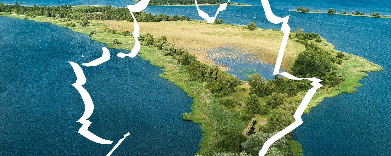 Półwysep Wusterau na jeziorze Plauer
