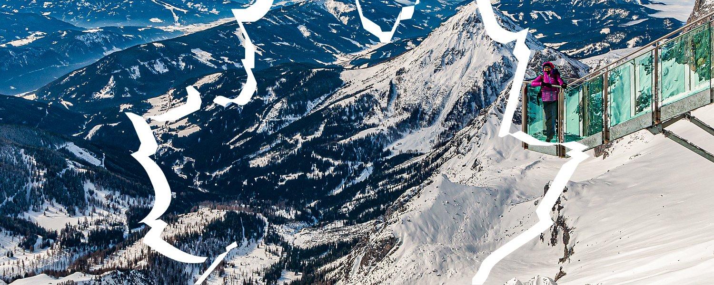 Schody w Nicość na Dachsteinie