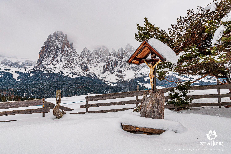 Jezus przy narciarskim szlaku