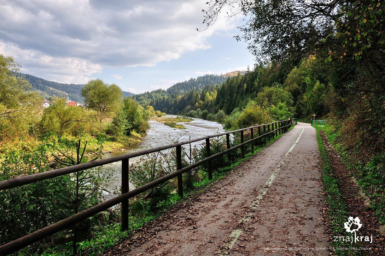 Droga rowerowa nad Bystrzycą na Słowacji