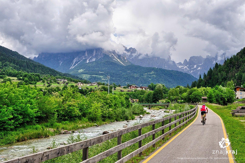 Droga rowerowa w dolinie Val Primiero
