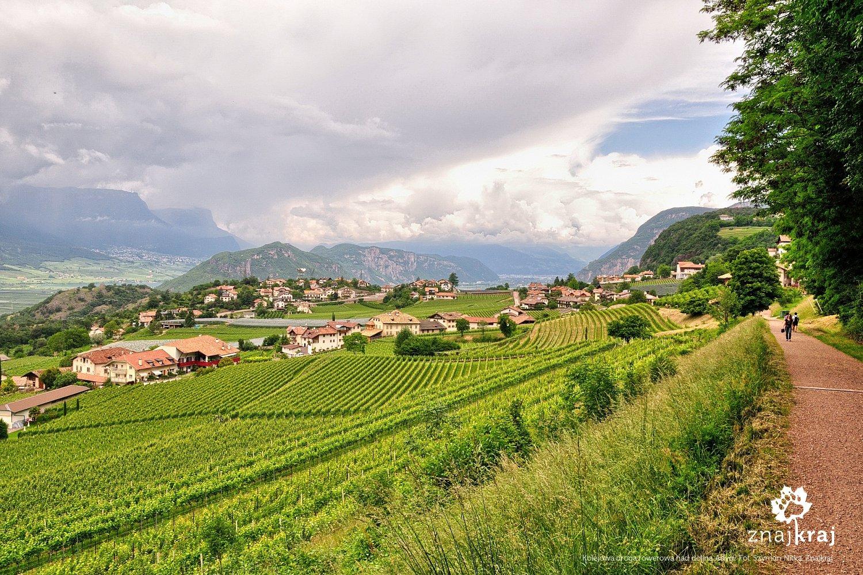Kolejowa droga rowerowa w kierunku Val di Fiemme