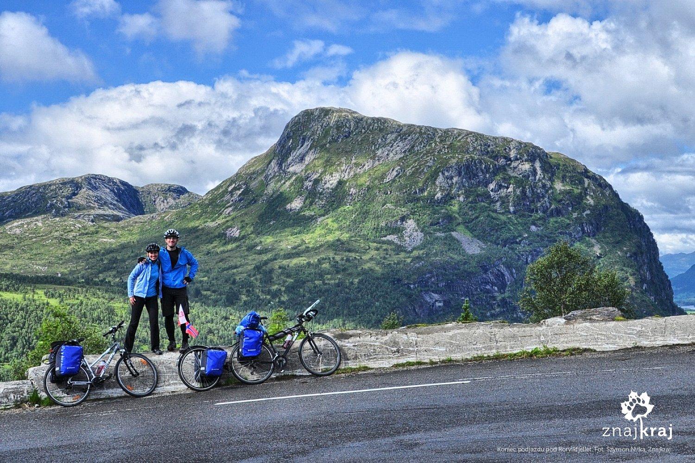 Koniec podjazdu pod Rorvikfjellet