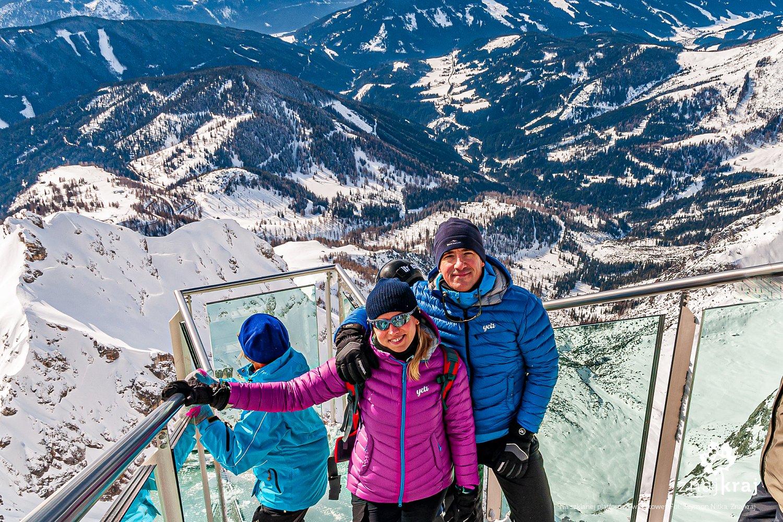 Na platformie widokowej na Dachsteinie