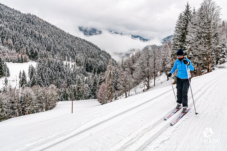 Na trasie narciarskiej Rittisloipe