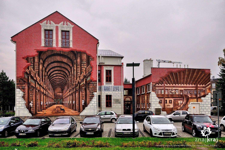 Mural na Starej Szkole w Ustroniu