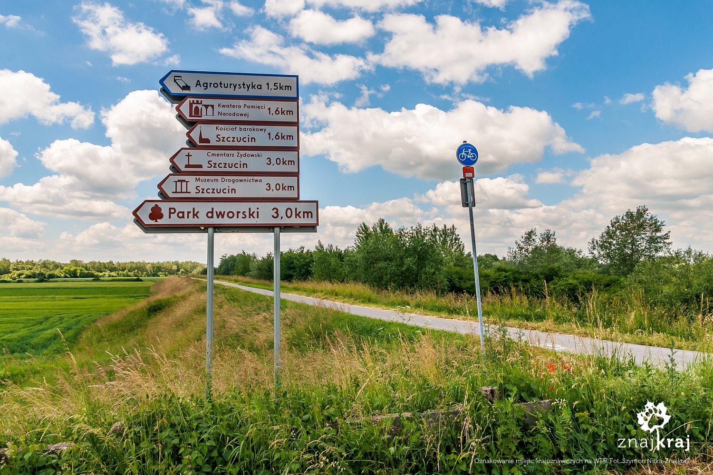Oznakowanie miejsc krajoznawczych na WTR