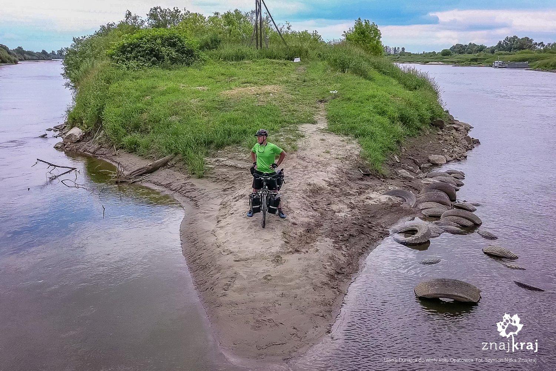 Ujście Dunajca do Wisły koło Opatowca