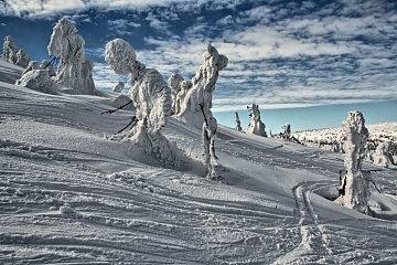 Śniegowe zjawy na Szrenicy