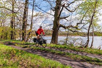 Szlak rowerowy przez rezerwat Łężczok