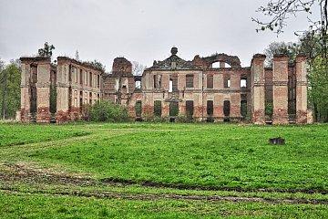 Tył pałacu w Kamieńcu Suskim